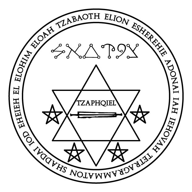 Lamen of Tzaphqiel, angelic governor of Saturn « The