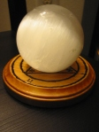 Crystal Ball Stand with Selenite Orb