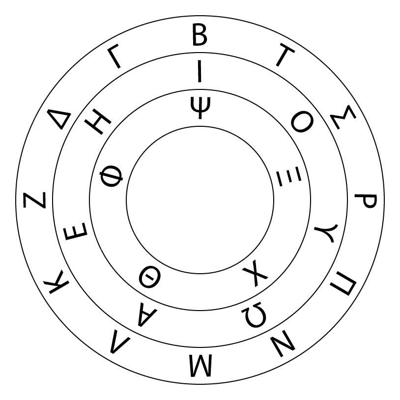 Greek Sigil Wheel | The Digital Ambler