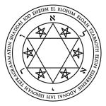 Lamen of Auriel in Hebrew