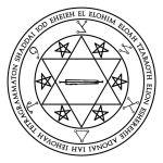 Lamen of Tzaphqiel, angelic governor of Saturn