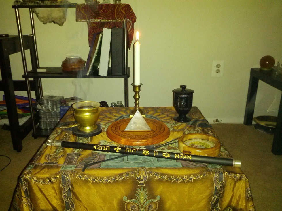Conjuration Altar with the Wand of Art