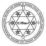 Lamen of Hanael, angel of Capricorn